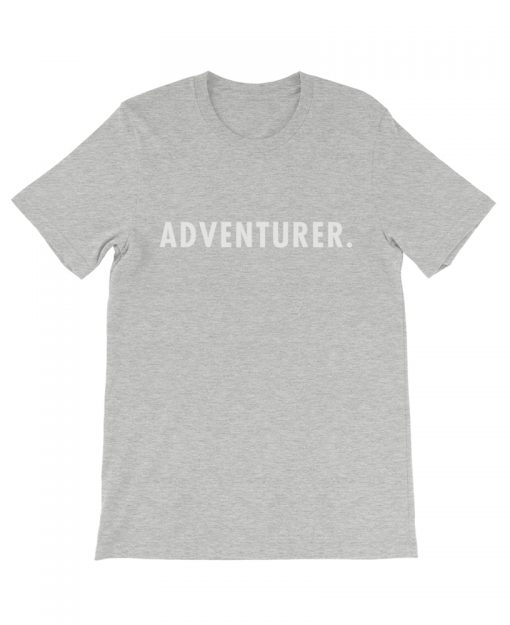 Boho adventurer travel tee heather gray the wanderful soul
