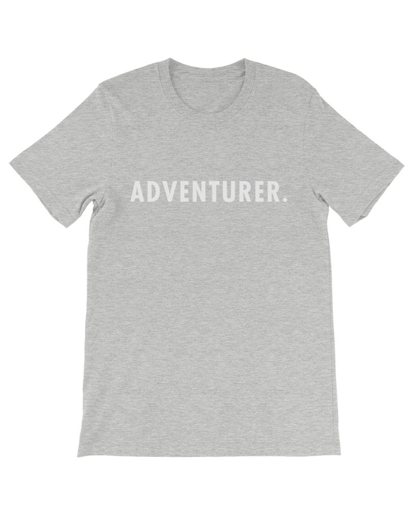 Boho adventurer travel tee heather gray the wanderful soul