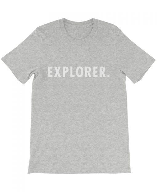 Boho explorer tee gray the wanderful soul