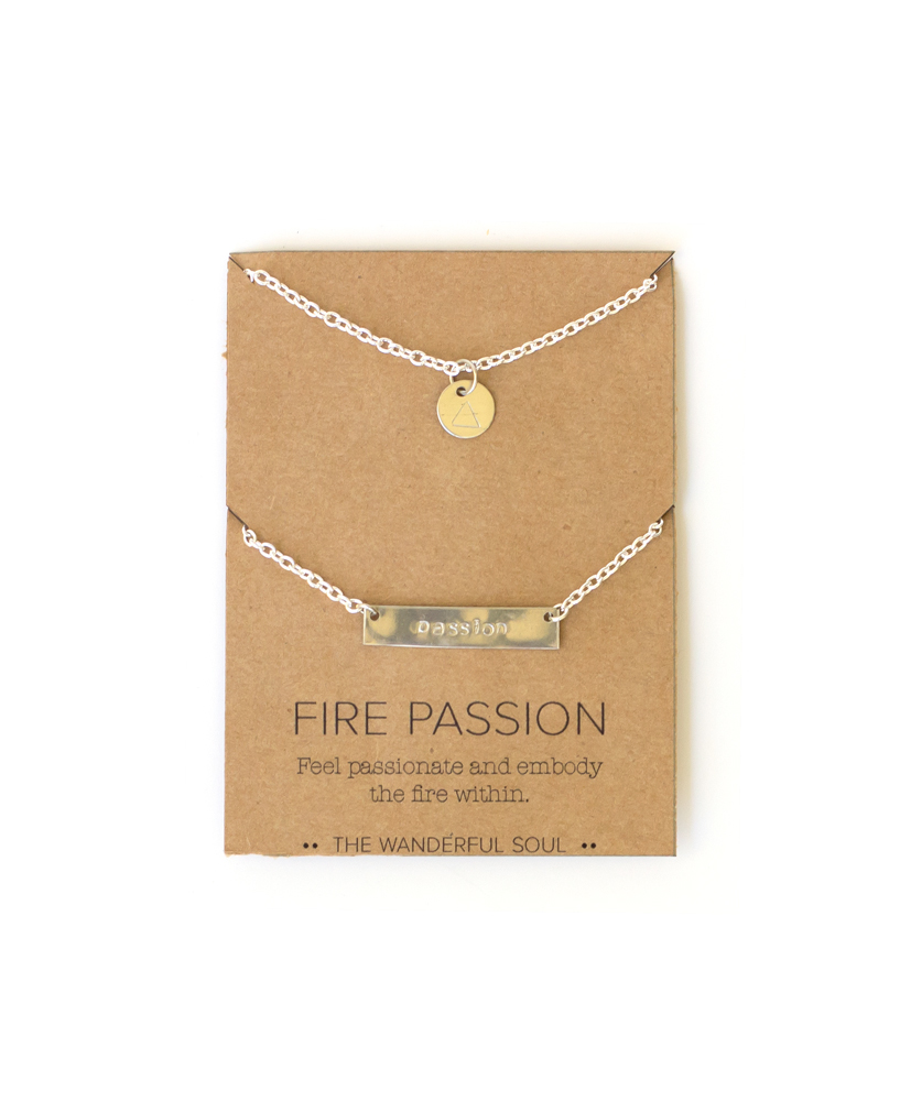 fire passion necklace set