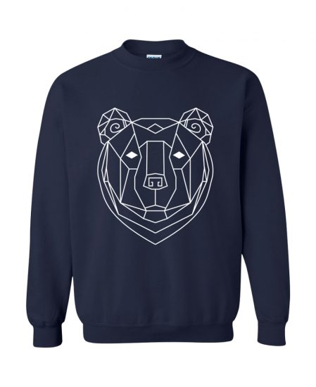 Geometric Bear Totem Pullover Sweater