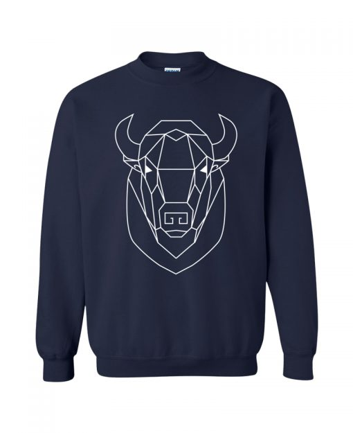 Geometric Buffalo Totem Pullover Sweater