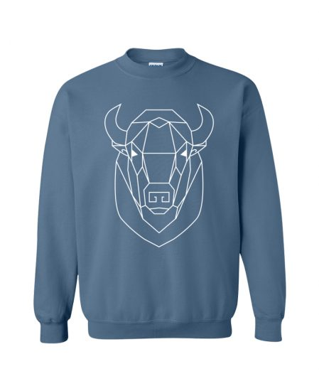 Geometric Buffalo Totem Pullover Sweater