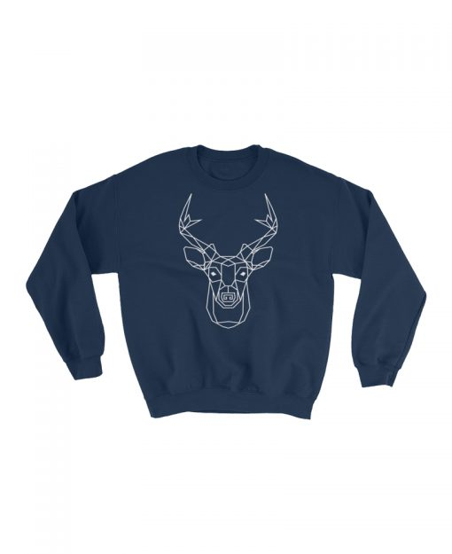 Geometric Deer Totem Pullover Sweater