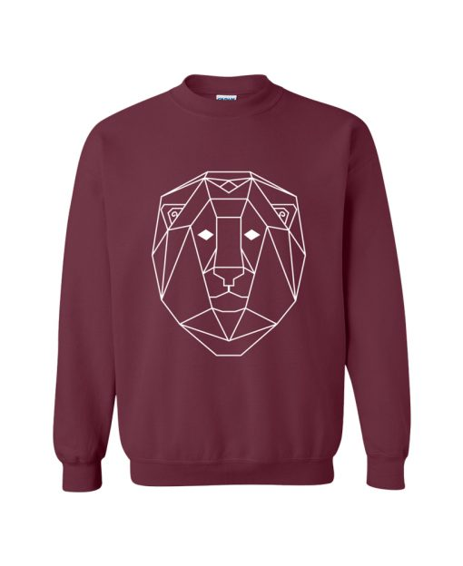 Geometric Lion Totem Pullover Sweater the wanderful soul