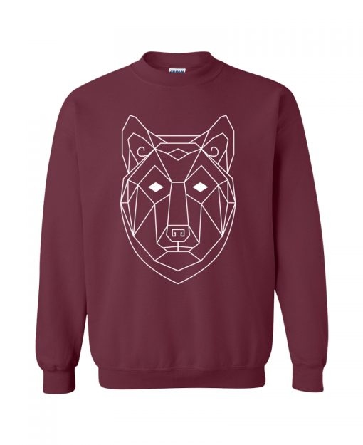 Geometric Wolf Totem Pullover Sweater the wanderful soul
