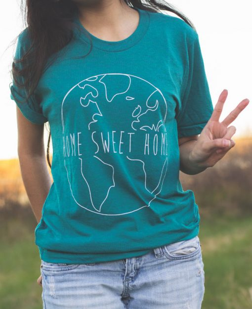 home sweet home globe tee the wanderful soul