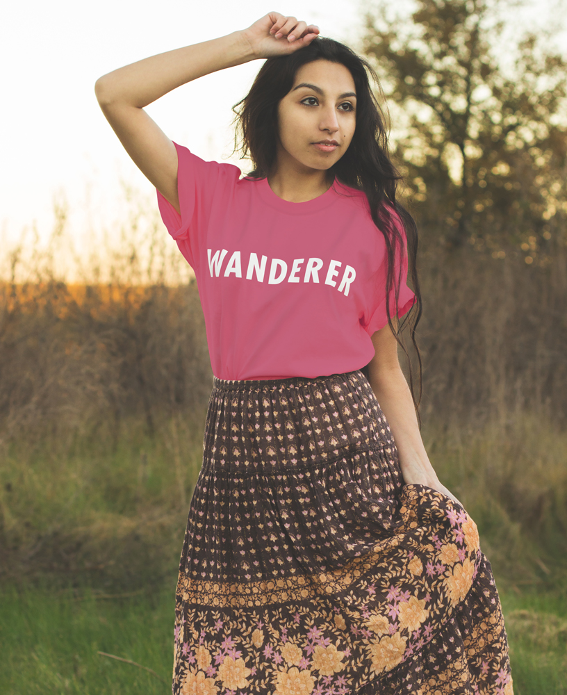 boho wanderer tee travel rasberry the wanderful soul