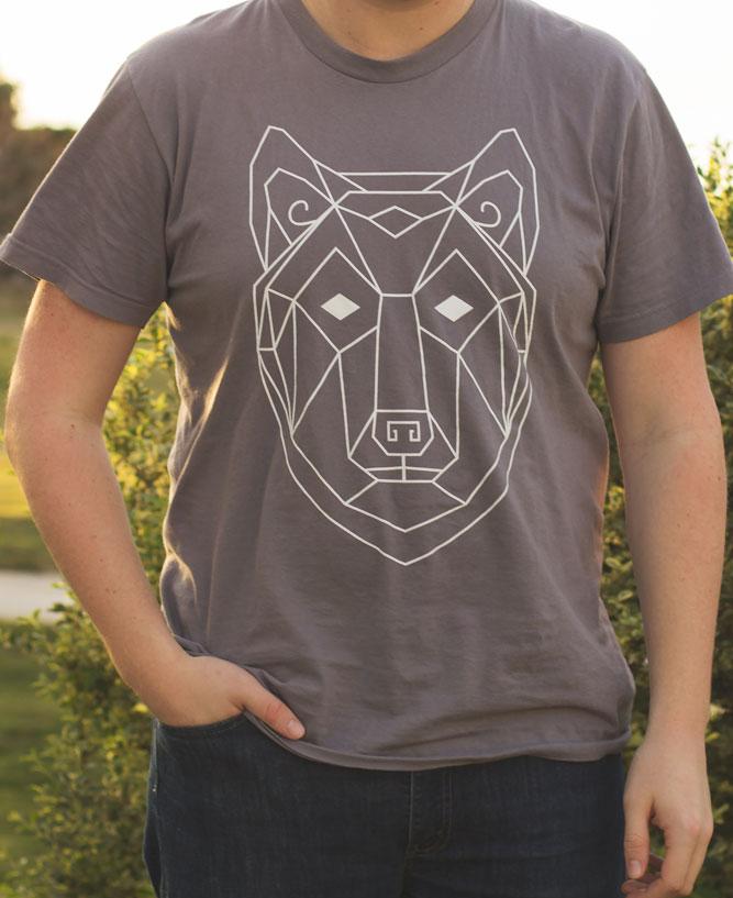 geometric wolf totem tee the wanderful soul