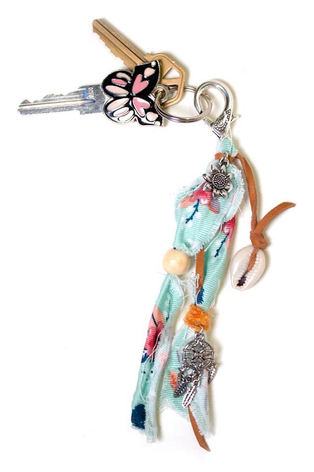 Bohemian beachcomber keychain