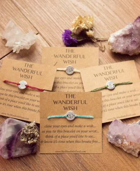 the wanderful wish bracelet - travel wish bracelet the wanderful soul