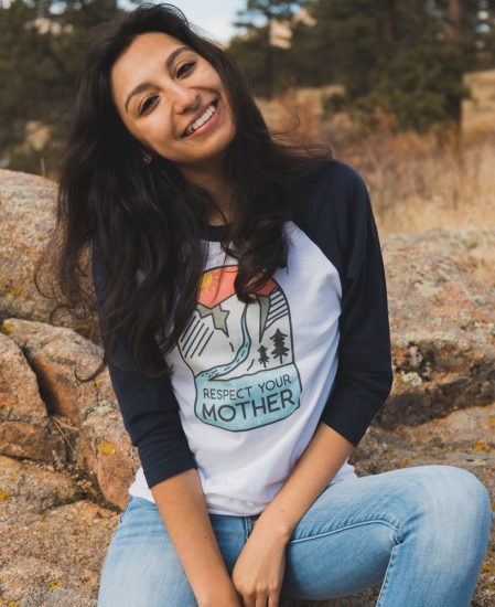 Respect Mother Nature Raglan 3/4 Tee - The Wanderful Soul