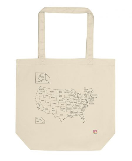 Color Your US Map Tote Bag - The Wanderful Soul