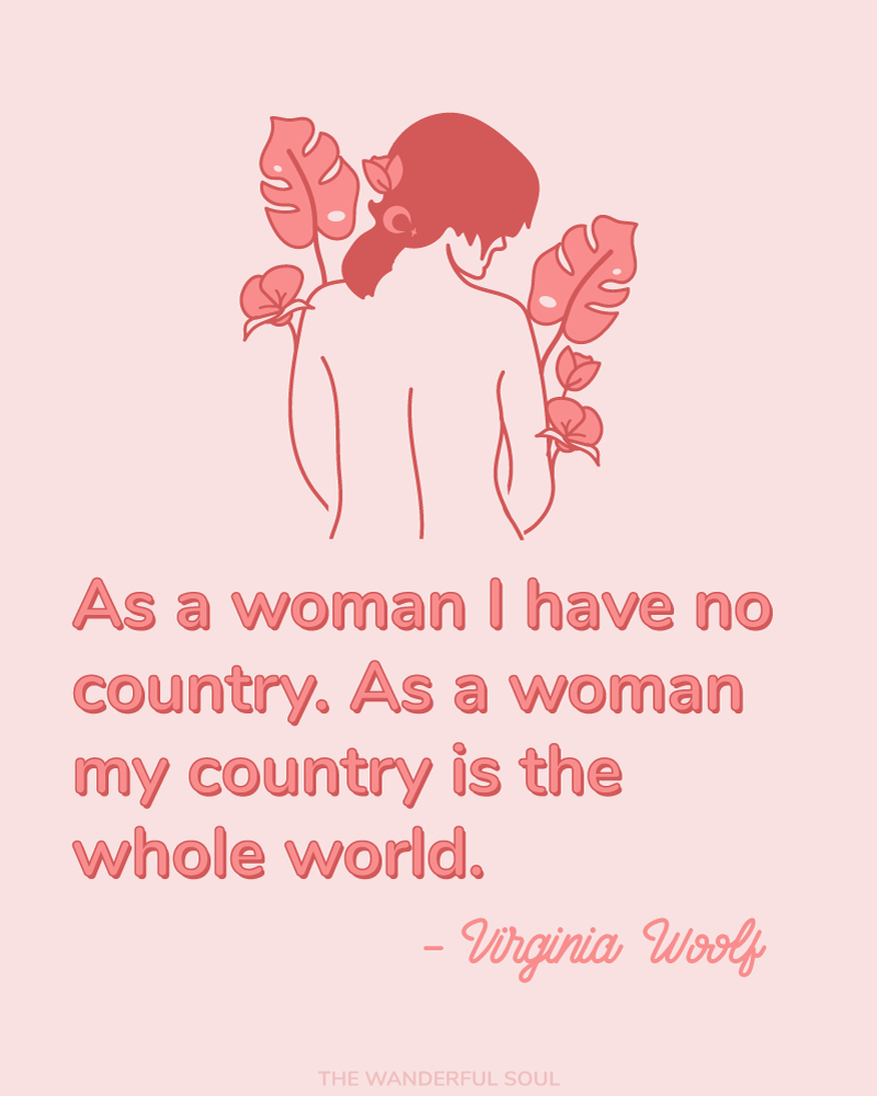 Inspiration Virginia Woolf Quote - The Wanderful Soul Blog