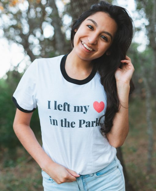 I left my heart in the park tee - national park tee - the wanderful soul
